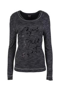 Canyon T-Shirt black melange Langarm (Größe: 40)