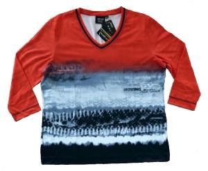 Canyon T-Shirt 3/4 Arm rot-silvergrey-black (Größe: 44)
