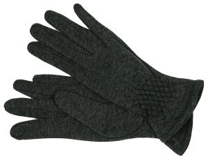 Fiebig Damen Handschuh mit Innenteddyfell Raffung (Größe: M)