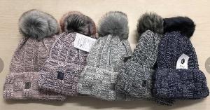 Antonio Damen Mütze meliert (Farbe: schwarz-grau)