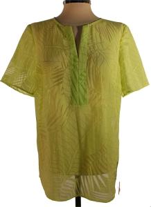 my way FER Tunika Bluse Leaves apfelgrün (Größe: 44)