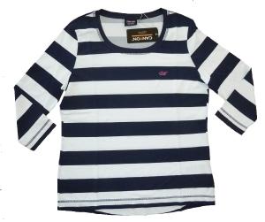 Canyon T-Shirt Ringel 3/4 Arm navy-white (Größe: 48)