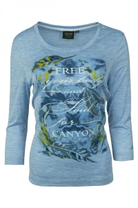 Canyon T-Shirt iceblue melange 3/4 Arm (Größe: 46)