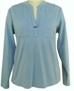 Bluebeery Blusenshirt hellblau (Größe: 44)