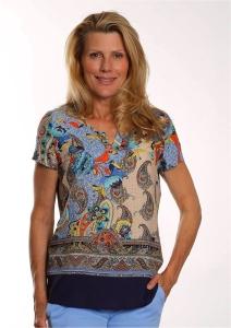 Bluebeery Shirt Paisley bunt (Größe: 42)