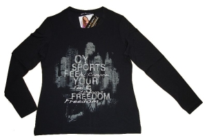 Canyon Women Sports T-Shirt Skyline schwarz langarm (Größe: 44)
