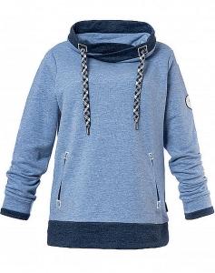 Serena Malin Sweatshirt mit Kragen jeansblau (Größe: 40)