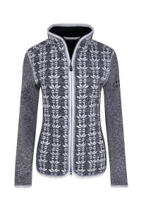 Canyon Damen Jacke in Strickoptik schwarz-grau-weiss (Größe: 44)