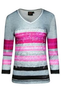 Canyon T-Shirt Print 3/4 Arm grau-pink (Größe: 42)