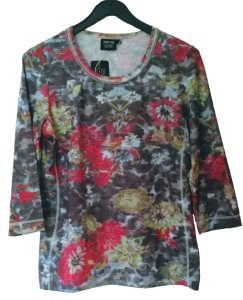 Canyon T-Shirt cherry-silver-print (Größe: 40)