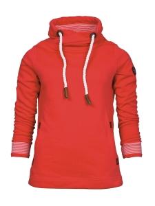 Serena Malin Sweatshirt mit Tulpenkragen (Größe: 42)