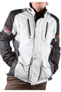 LS2 Tundra Man Motorradjacke Tourenjacke (Größe: Herren 3XL hellgrau-schwarz)