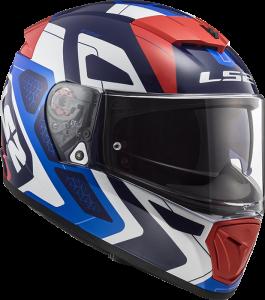 LS2 Helm Breaker Android Blue Red FF390 (Größe: M)