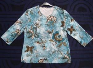 Damen T-Shirt Petrol mit Muster (Bitte wählen: M)