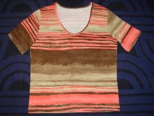 Damen T-Shirt koralle-sand (Bitte wählen: L)