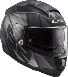 LS2 Helm Vector HPFC Evo Kripton matt black titanium FF397 (Größe: S)