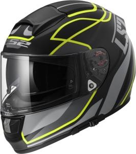 LS2 Helm FF397 Vector FT2 Vantage matt black-yellow (Größe: L)
