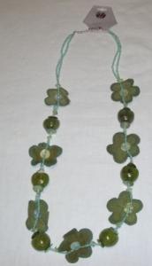 Halskette güne Blumen Modeschmuck