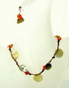 Halskette mit Ohrringen Modeschmuck