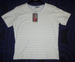 Hot Sportswear T-Shirt hellblau gestreift (Bitte wählen: 40)