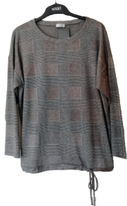 Seidel Blusenshirt schwarz-grau Glencheck kariert (Größe: 42)