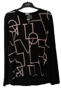 Seidel Blusenshirt schwarz-sand  Modern Art (Größe: 42)