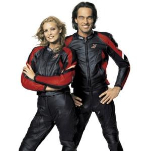 IXS Motorrad Lederjacke Pantera für Herren (Bitte wählen: 52)