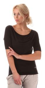 Nord Blanc Damen Fitnessshirt feminin schwarz (Größe: 38)