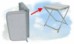 Tischplatte für Bel Sol Hocker Gala (bitte wählen: Variante 1 klappbar)