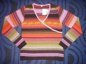 Pullover in Wickeloptik ,rosa (Größe: 38/40 = L)