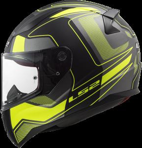 LS2 Helm Rapid Carrera FF353 matt black-yellow (Größe: S)