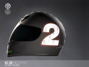 Indian Coast Helm Rider schwarzmatt (Größe: S)