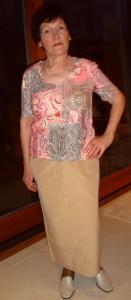 Damen T-Shirt rosa-sand (Bitte wählen: XL)