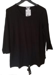 Adelina Shirt schwarz 3/4 Arm (Größe: 50)