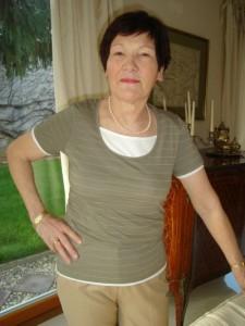 Damen T-Shirt khaki 2 Lagenlook (Bitte wählen: M)