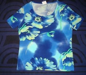 T-Shirt, blau-grün (Bitte wählen: XL)