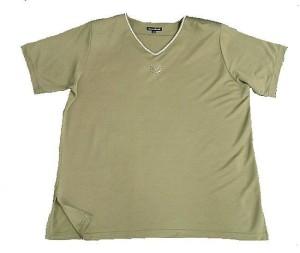 Damen T-Shirt Anna Menotti-khakigrün Gr. 48-50 (Größe: 48/50)
