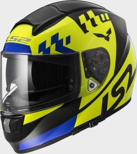 LS2 Helm FF397 Vector Podium Hi-Vis Yellow Black (Größe: M)