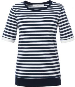 Serena Malin T-Shirt Maritim Ringelshirt blau-weiss (Größe: 38)