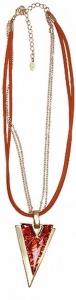 Halskette Wildleder mit pfeilförmigem Anhänger