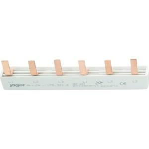 3-Phasen-Stiftschiene geschlossen, 6 Module, L-Ausf.
