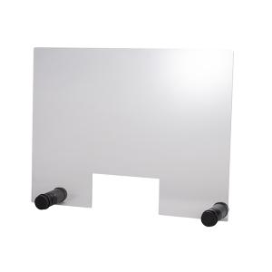 Hygieneschutzwand ROUND BLACK Öffnung 26 x 13 cm 98004