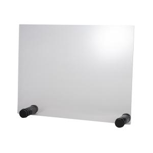 Hygieneschutzwand ROUND BLACK ohne Öffnung 26 x 13 cm 98005