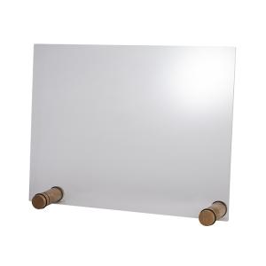 Hygieneschutzwand ROUND OAK ohne Öffnung 26 x 13 cm 98009