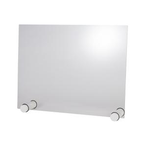 Hygieneschutzwand ROUND WHITE ohne Öffnung 26 x 13 cm 98013