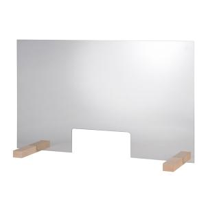 Hygieneschutzwand GLAS Öffnung 25 x 11 cm 98014
