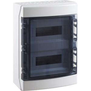 APV-Kasten 24 TLE, IP65, 2-rhg mit Tür rauchtopas