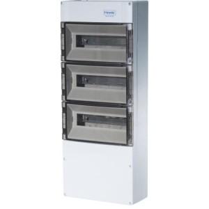 APV-Kasten 36+6 Module 3-rhg. IP65 mit zusätzl. Anschlußraum