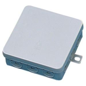 AP/FR-Kasten 96x96x40 IP54 VDE 12 Einführungen, Deckel mont.