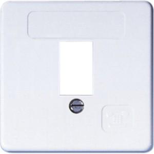 Abdeckung für TAE-Anschlußdose 50x50, 1-fach, inkl. Rahmen